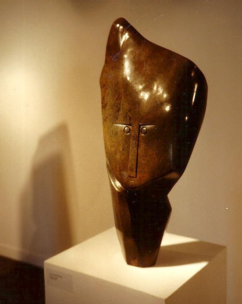 Sculpture de Henry Munyaradzi, qui m'appartient : Wise man,1990
