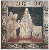 Représentation d'Hermès (pavement de la cathédrale de Sienne) figurant sur l'édition de poche de La Voie hermétique (2011)